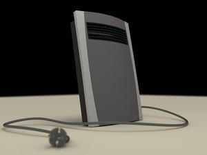electric fan heater c4d