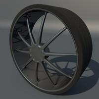 wheel 3d obj