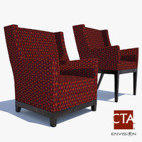 3d model lounge chairs
