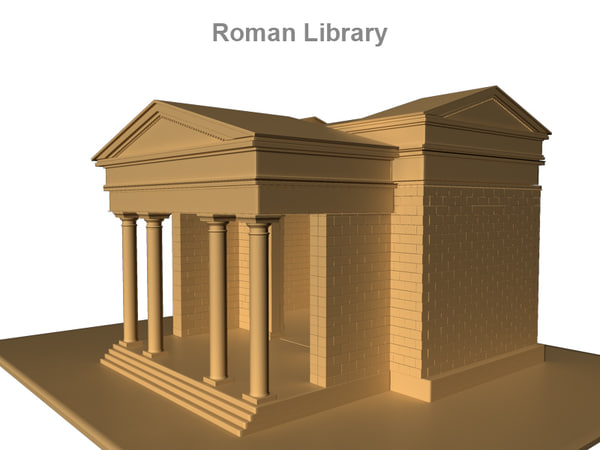 3d ancient roman library