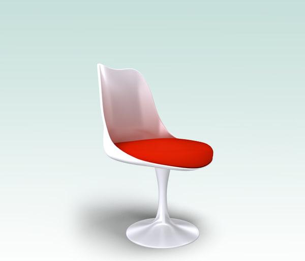 3d 3ds real chair saarinen ch