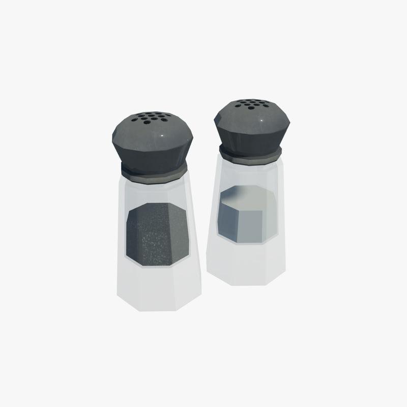 salt pepper shakers 3d max