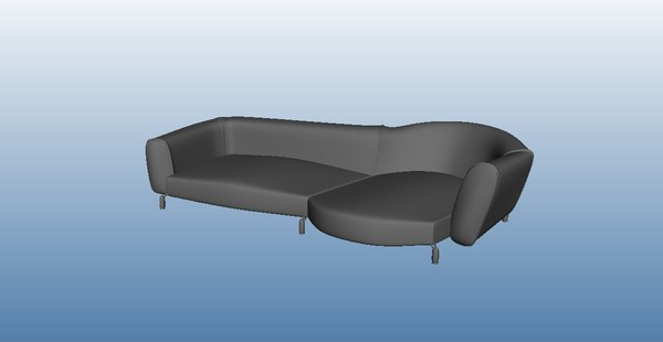 3d model leather couch