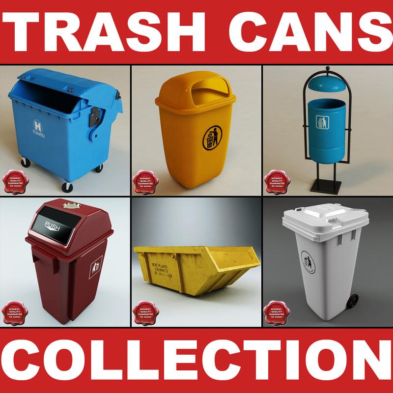c4d trash cans v2