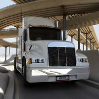 3d model of semi truck