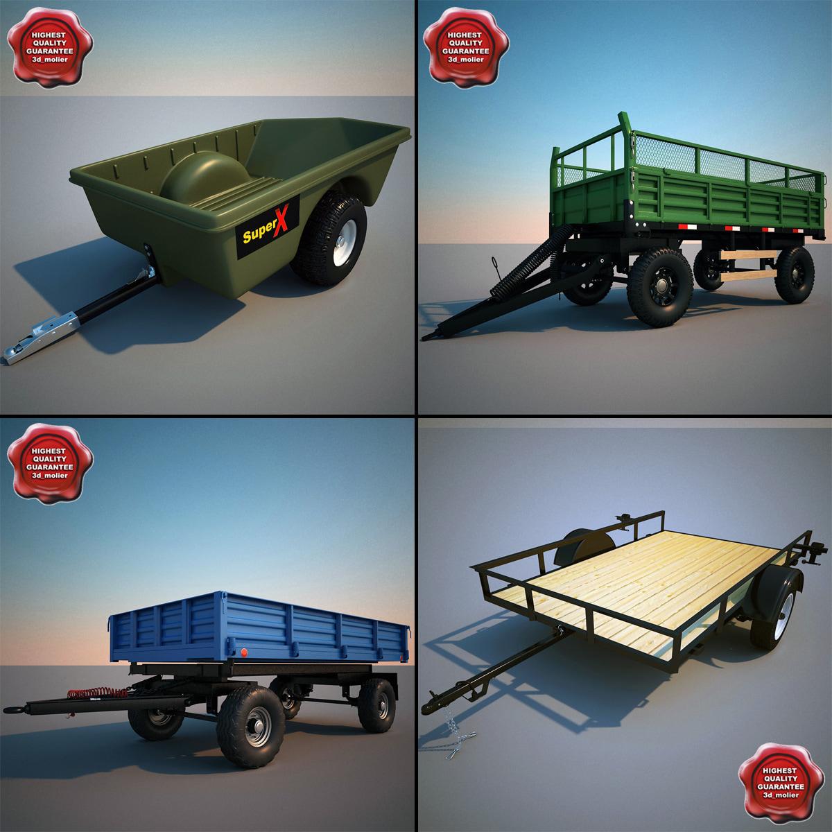 3d utility trailers model
