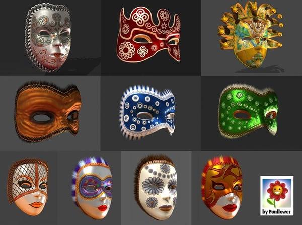 maya venetian masks