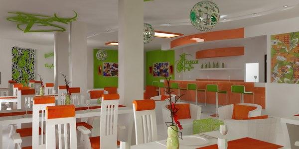 coffee shop interior 3d max