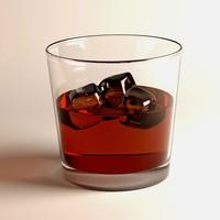 alcoholic rum 3d obj