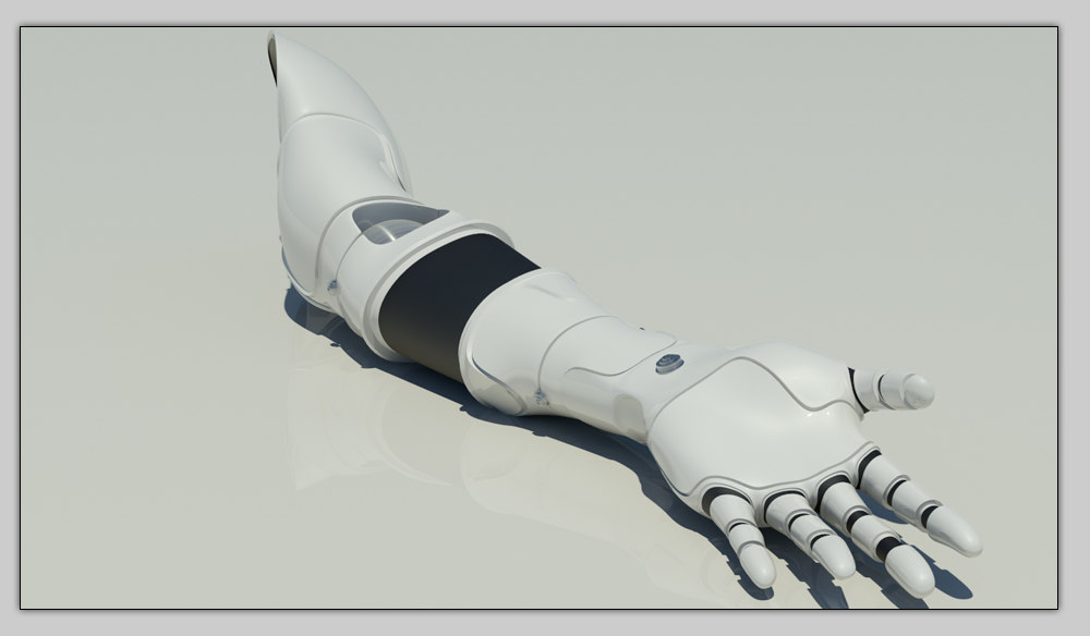 3d arm cybernetic model