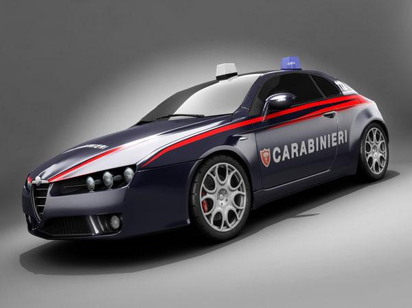 3ds max alfa romeo brera carabinieri