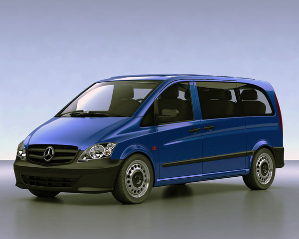 mercedes vito vans 3d model