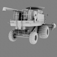 3d model of corn harvester