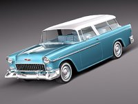 3ds max chevrolet bel air nomad