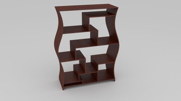 3d contemporary shelfing
