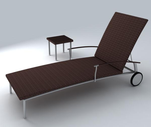 3d deckchair exterior model