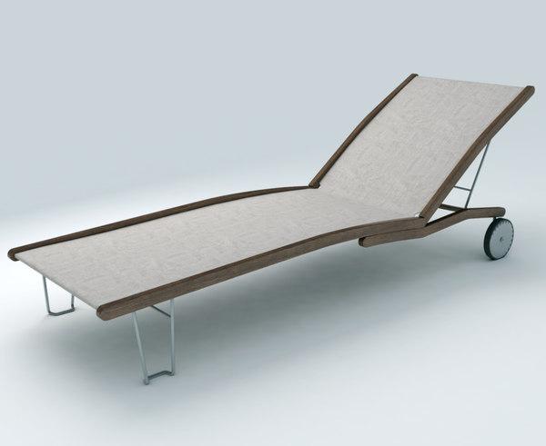 3d max deckchair exterior