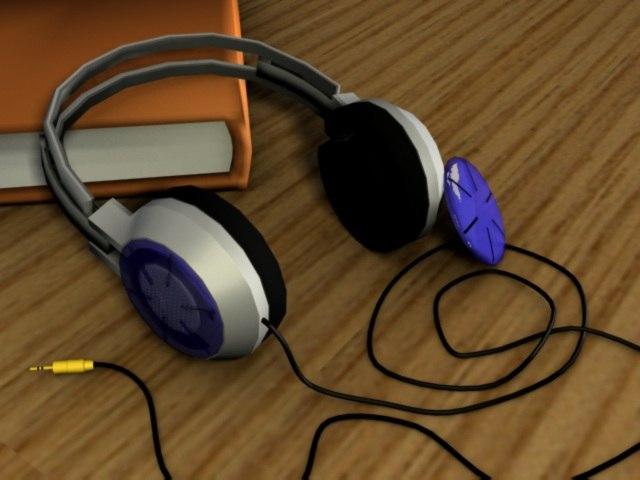 3d head phones headphones