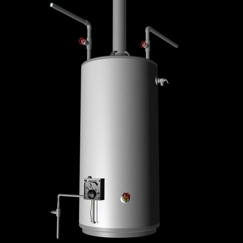 3d gas hot water heater model
