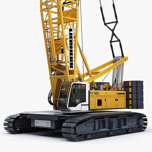 3d hydraulic lift crane liebherr