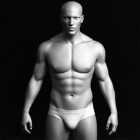 Realistic Male Body - Base Mesh