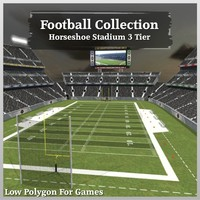 Football Collection Horseshoe Stadium 3 Tier