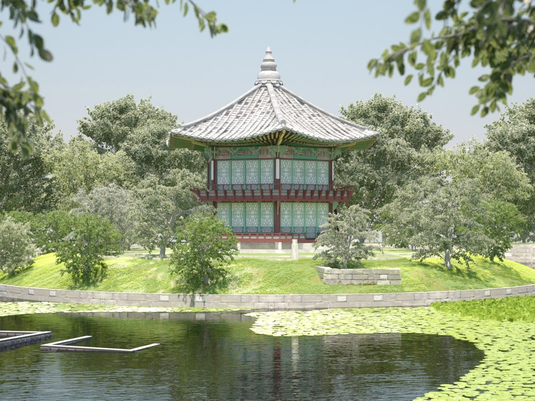 3ds max korean traditional pavilion