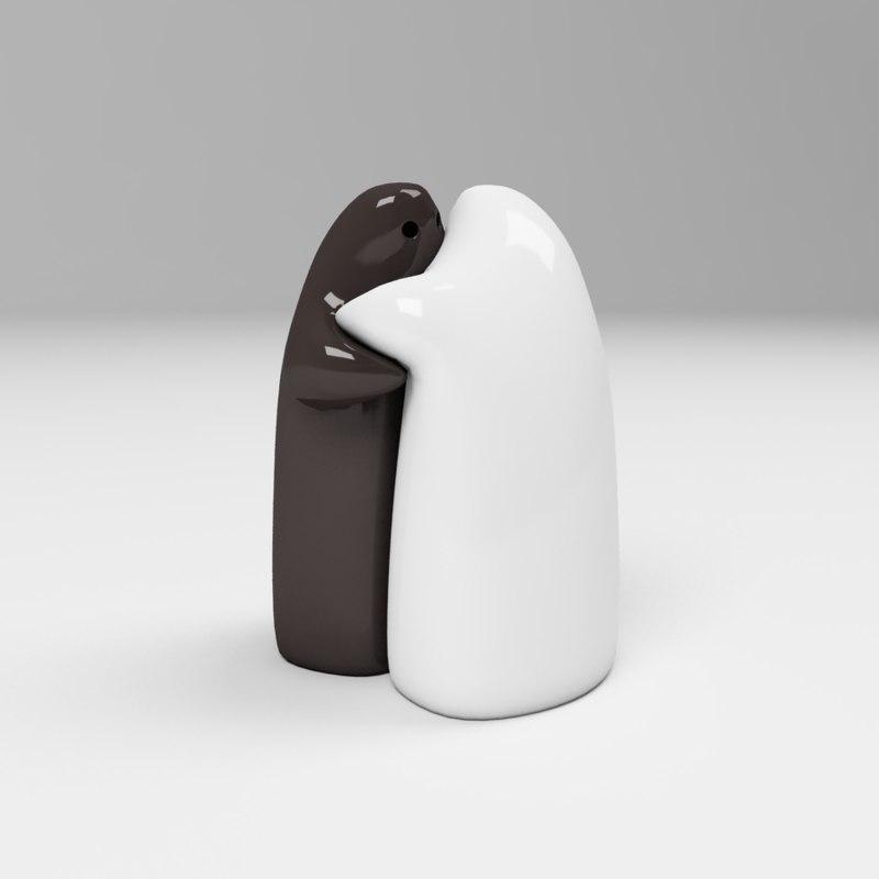 3d model ceramic pepper