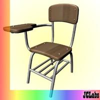 3d model of school desk