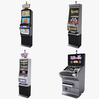 casino slot machines collections 3d model