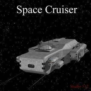 space cruiser transport 3d model