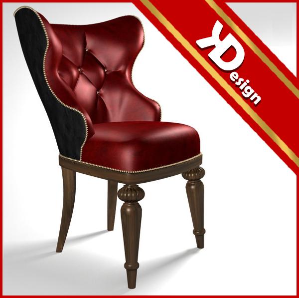 3d baroque chair