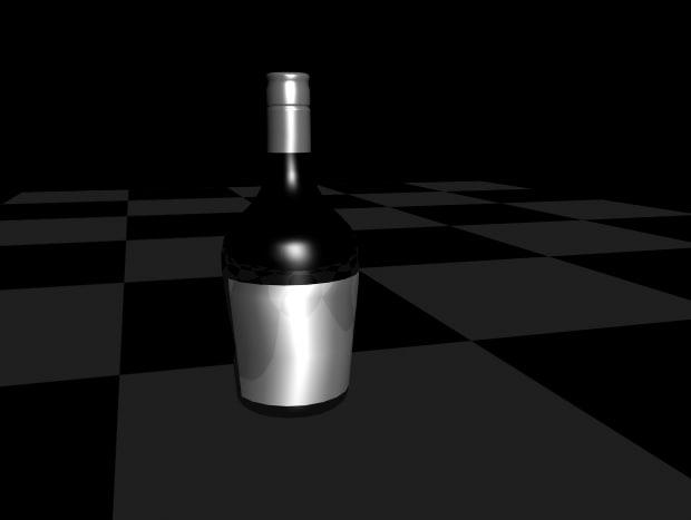 obj bottle alcohol
