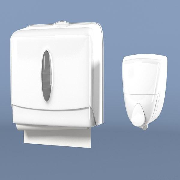 Bathroom soap dispenser set