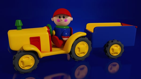 3ds max tractor boy