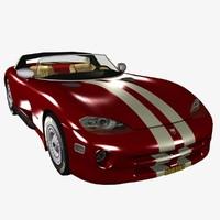 3d viper rt-10 1992-1995 car model