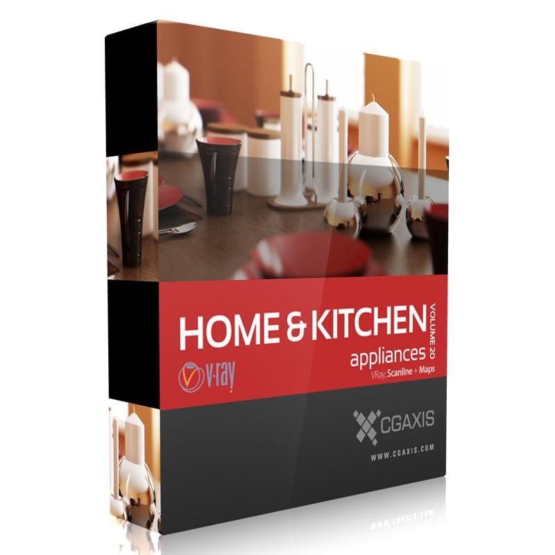 3d volume 20 home kitchen appliances model