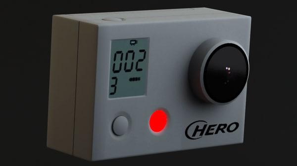 3d model of pro hd hero cam