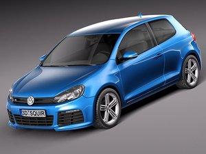 3d model volkswagen golf 2012 r