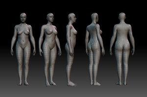 3d model of woman body