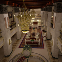 Hotel Lobby Environment 3D Model