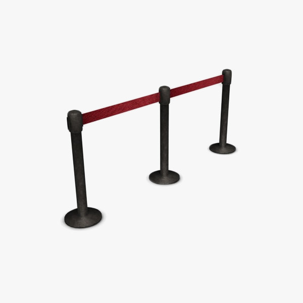 rope barrier 3d model