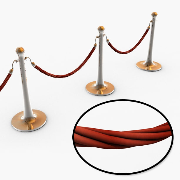 3ds max rope barrier