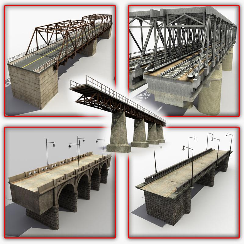 3dsmax bridges modeled