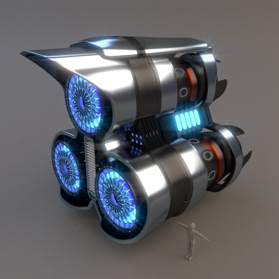 3d model spaceship drive