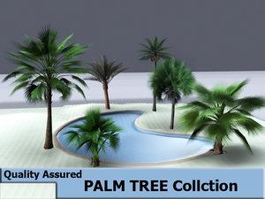 trees swimming pool 3d model