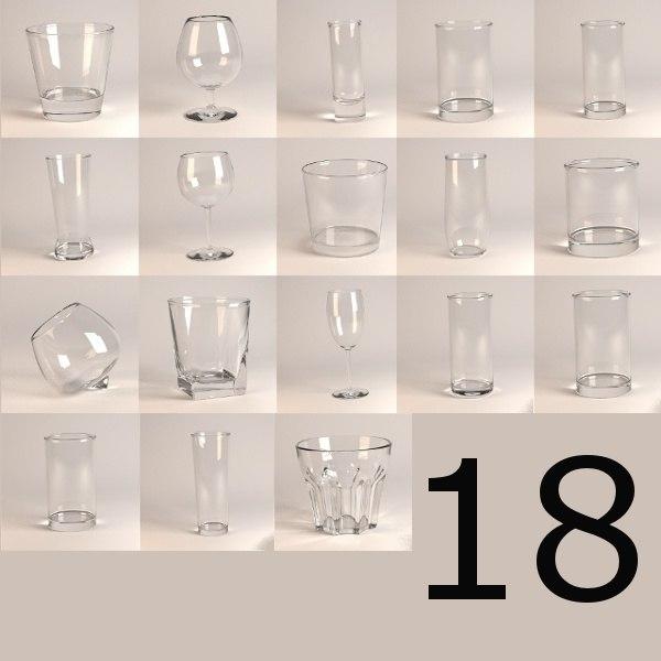 3d model 18 glasses