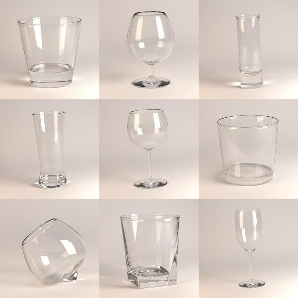 glass alcohol 3d 3ds