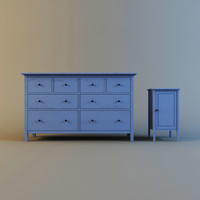 ikea hemnes 3d model