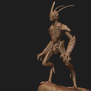 alien concept zbrush 3d 3ds